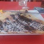 Crêpe au chocolat noir