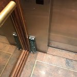 Elevator very comforting to see on the floor