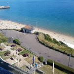 Bournemouth beach view from Room 411