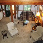 Lofted lobby area; sitting, reading, TV/game & galley areas