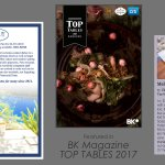 Listed in BK Top Tables Magazine