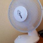 le ventilateur prêté