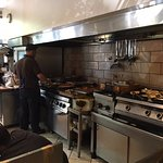 Lots of great food being cooked in the kitchen