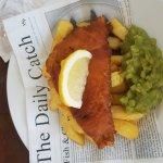 Boat Inn Fish, Chips and Mushy Peas