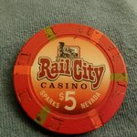 Rail City Poker Chip
