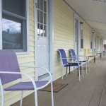 Covered Porch on Motel rooms 4-9