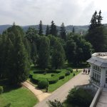 Hotel terrace and the park