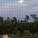 Full moon from screened veranda, Myrtlewood Villas