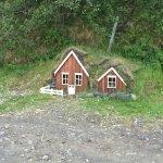 Fairy/troll homes behind main entrance.