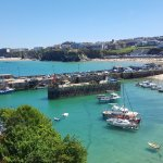View of Newquay and Harbour from Room 3 Terrace