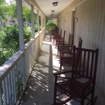 Long front porch with rockers