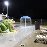 Kiddie pool at night.
