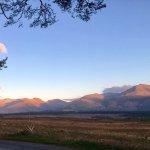 Ben Nevis Range across the road