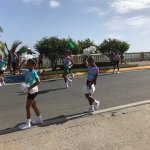 Parade outside of Malecon House