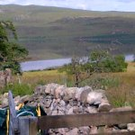 The view from outside the Bothy