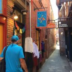 Fan Tan Alley in Chinatown with Jerry