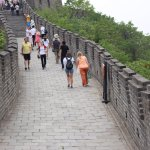 The girls chatting on the Great Wall