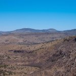 McDonald Observatory way in the distance