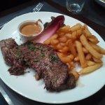 steak frite sauce au poivre