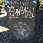 Sign for the Gunbarrel Tavern & Eatery