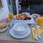 Breakfast each morning outside room