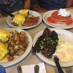 ..first time, got to try guava pancakes, kalbi ribs, crab with egg Benedict. Excellent flavor. F
