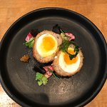 Crawfish & Smoked Scallop Scotch Egg