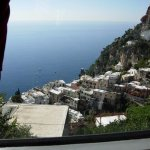 Capri: View out the window of the Tram