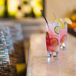 the lake house - cucumber, watermelon, lemon, gompers gin, soda water, tonic