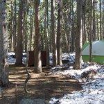Campsite snowed in