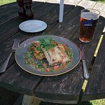 Perfect shade in a country pub garden with a delicious treat in prospect