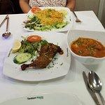 biryani, curry and tandoori chicken