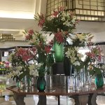 Beautiful floral decoration in the lobby.