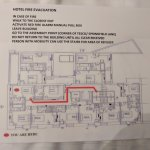 Fire escape plan that did not relate to the room or floor