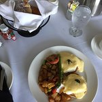 Eggs benedict...potatoes could be crispier