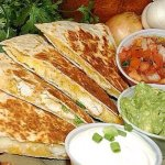 Another good choice, chicken quesadillas.