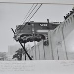Picture of local events on the wall...Here is one from late 40's...All aboard!~