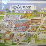 Map of area around Artisan's Guild Gallery
