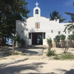 the church in Punta Allen. No paved streets ..frozen in time.