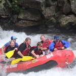 This was the end of the trip the Nantahala Falls and the water was FREEZING!!!