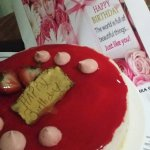 Birthday cake from City Season not just slice but a whole cheese cake