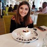 Italian restaurant birthday cake surprise