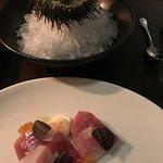 Sea urchin and tuna