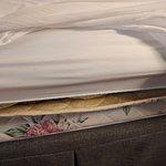 Weird mattress, but it was ok for sleeping