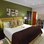 Luxury room en-suite, with microwave, fridge, underfloor heating & overhead fan.