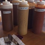 Great selection of sauces