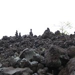 Another view of the black lava wall