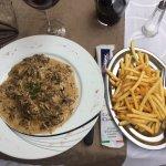 Cordon bleu de veau a la crème. Avec une tonne de champignons frais ! 18€