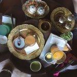 Coffee, tea, juice and treats.