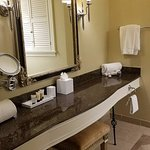 Nice long vanity in Bathroom